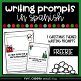 Writing Prompts in Spanish - Christmas Themed