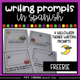 Writing Prompts in Spanish - Halloween Themed