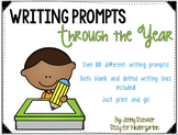 Writing Prompts throughout the Year