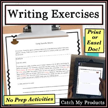 Writing Prompts to Build Skills BUNDLE : Writing Process