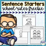 School Rules Writing Prompts with Pictures and Sentence St