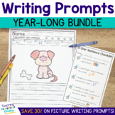 Kindergarten Picture Writing Prompts with Sentence Starter