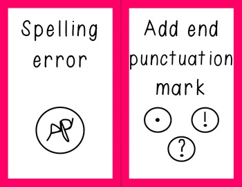 Writing - Proofreading Marks - Bulletin Board