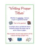 Writing Proper Titles