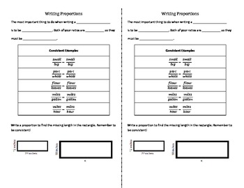 Writing Proportions Guided Notes EDITABLE