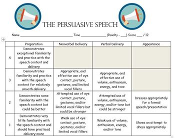 Pre written persuasive speech