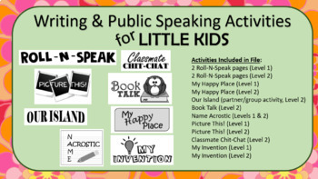 Writing & Public Speaking for Little Kids