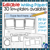 Writing Publishing Papers with Editable Writing Prompts / Titles