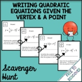 Writing Quadratic Equations Activity - Scavenger Hunt (Ver