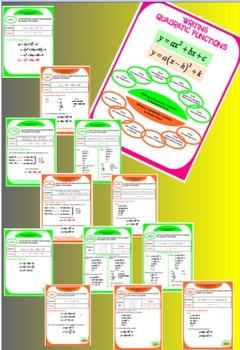 Writing Quadratic Functions - 12 Models
