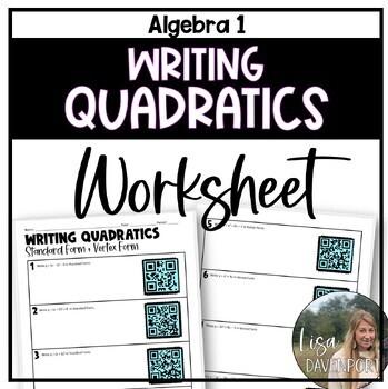 Writing Quadratics in Standard & Vertex Form (QR Code Practice Activity)