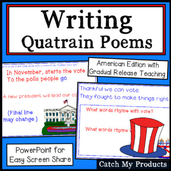 Writing Process : Quatrain Poems (American Edition) Power Point