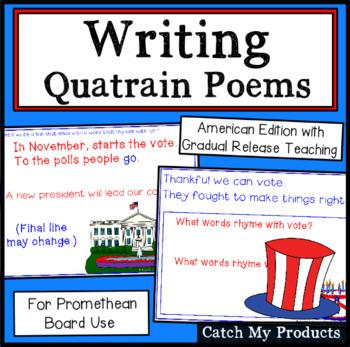 Writing Quatrain Poems (American Edition) for Promethean Board