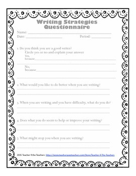 Writing Questionnaire