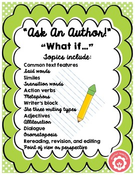 Writing Questions For A Student Author