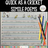 Poetry Writing Simile Poems | Quick as a Cricket