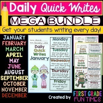 Back to School Activities Quick Writes Writing Prompts for Morning Work