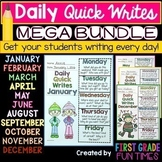 Back to School Quick Write Writing Prompts Beginning of the Year Activities