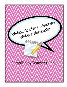 Writing Quotes for Writing Notebook Covers