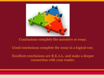 Writing REAL Conclusion