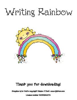 Writing Process - Rainbow Recording