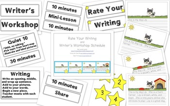 Writing: Rate Your Writing and Writer's Workshop Schedule