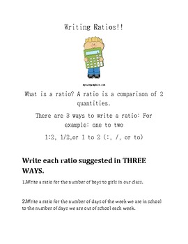 Writing Ratios!