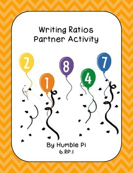 Writing Ratios Partner Activity- 6.RP.1