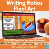 Writing Ratios Thanksgiving Math Pixel Art Digital Mystery