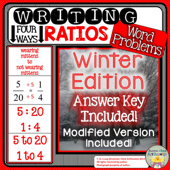 Writing Ratios: Winter Edition