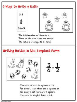 Writing Ratios and Ratio Equivalents Flip Book