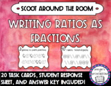Writing Ratios as Fractions School Supplies Activity Scoot Around the Room
