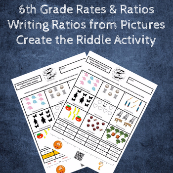 Writing Ratios from Pictures Create the Riddle Activity