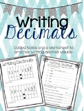 Writing/Reading Decimals Guided Notes and Worksheet