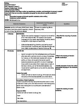 Writing Ready Gen Unit 1 Lesson 9 Module A