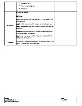 Writing Ready Gen Unit 1 Lesson Plans 6-10 Module A