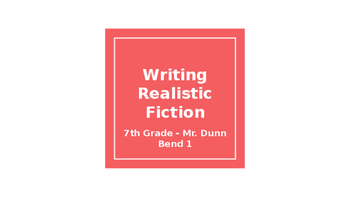 Lucy Calkins Realistic Fiction PPT Bend 1 - Grade 7