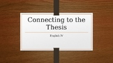 """Writing Reasons and Connecting to the Claim/Thesis in """"Int"""