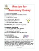 Writing Recipe Posters and Handouts