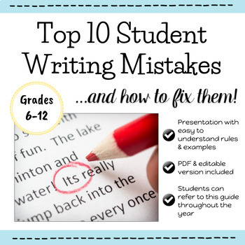 Top 10 Student Writing Mistakes and How to Fix Them