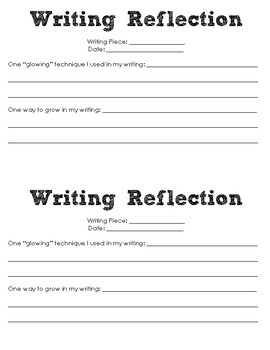 Writing Reflection