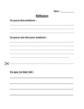 Writing Reflection (Français)