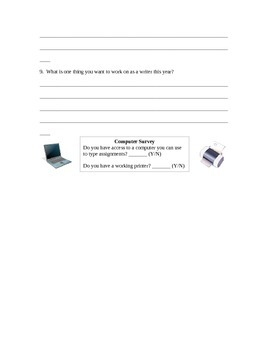 Writing Reflection Survey / Student Writing Inventory
