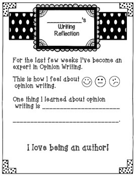 Writing Reflection for Young Writers