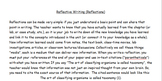 Writing Reflections with Hominid Evoluion Reflection Assignment, with Rubric