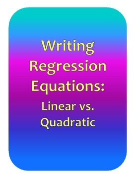 Writing Regression Equations