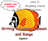 Writing Relations, Domain and Range