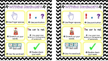Writing Reminders Checklist