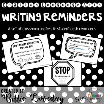 Writing Reminders - Poster Set
