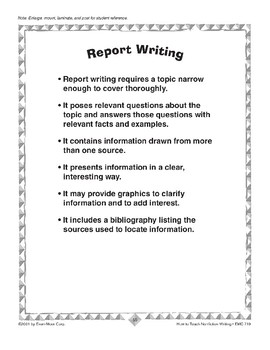 Writing Reports: A Biography